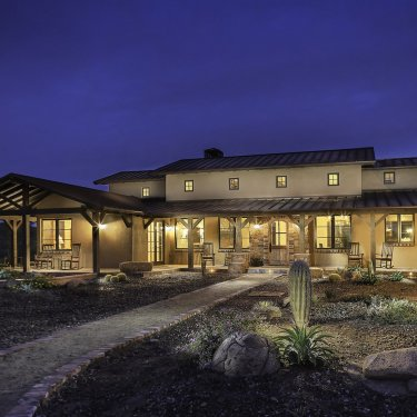 Cave Creek Ranch House - Front View Entry